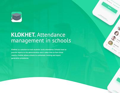 Klokhet. Attendance management in schools.