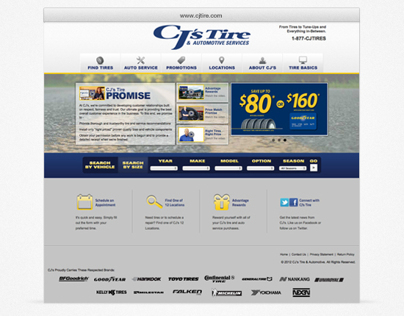 CJ's Tire & Automotive Services :: web project