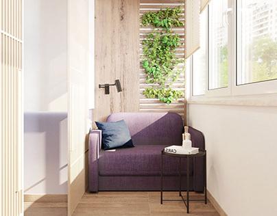 Interior design of apartment in Ternopil