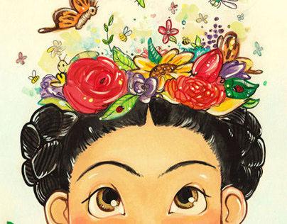 Frida Kahlo, at Age Eight.