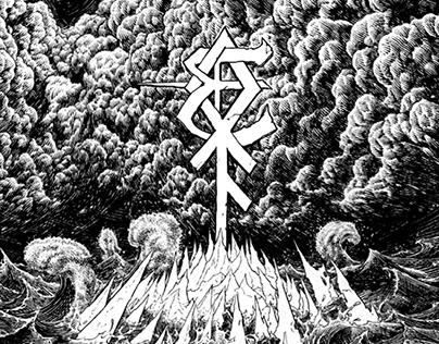 Enslaved Poster - Hellfest 2018