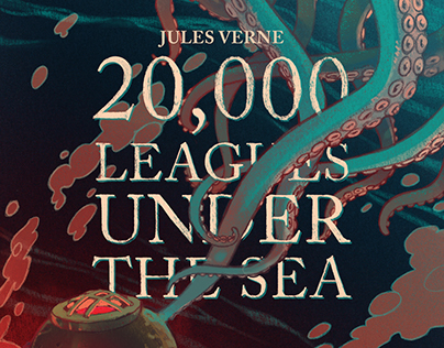 20,000 Leagues Under the Sea illustrated book cover