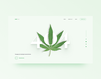 Hemp 404 Page Concept