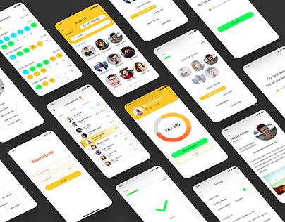 NameLink App UI/UX Design Concept