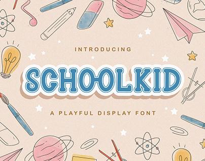 Schoolkid - Playful Display Font