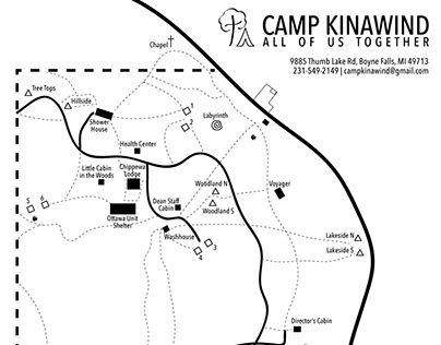 Map design for Camp Kinawind
