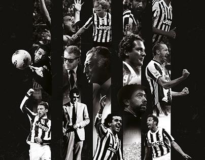 Juventus Movie Poster // BLACK AND WHITE STRIPES