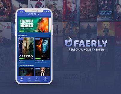 Faerly - Online Cinema App, Design Concept