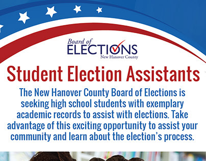 Board of Elections Student Election Assistants handout