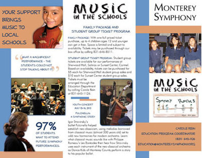 A Sampling of Brochures For Monterey Symphony 2012-2013