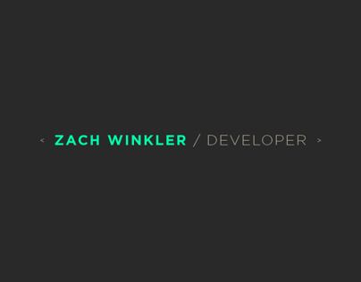 Zach Winkler
