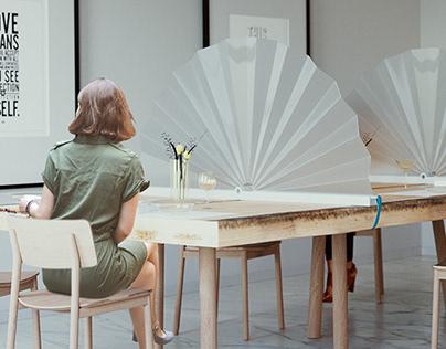 Ventaglio portable & foldable protective screen