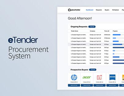 eTender System UI
