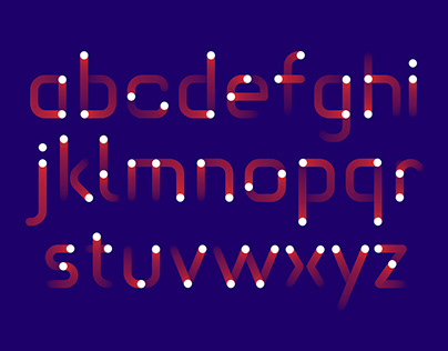 Experimental typeface – DISTANCES