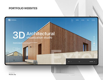 3D Architectural visualization studio Portfolio Website
