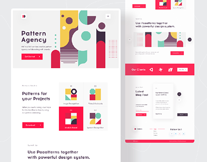 Landing page- Pattern Agency by Mahmudur Rahman