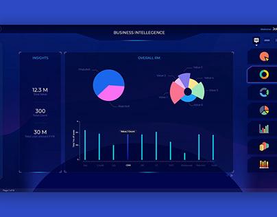 BUSINESS INTELLIGENCE UI (Adobe XD)