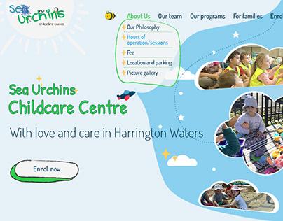 A multi-page site for a private kindergarten