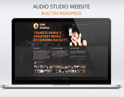 Audio Studio Website