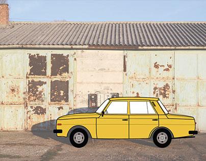 Retro Cars Illustration