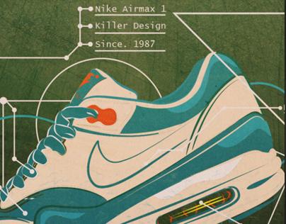 Nike Airmax 1 Designs.