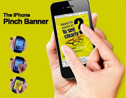 Opticana Eyewear - The iPhone Pinch Banner