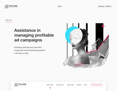 Website for Scube Marketing Company