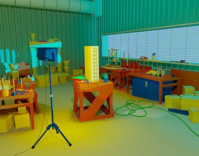 Game Ready Scene: Stonemason's Workshop