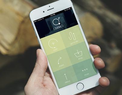 QR code app design