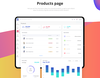 E-shop management software, dashboard | UI/UX