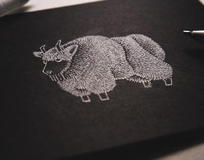 Fuzzy Life Pen Art - White Edition
