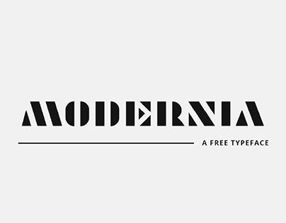 MODERNIA - FREE BOLD STENCIL TYPEFACE