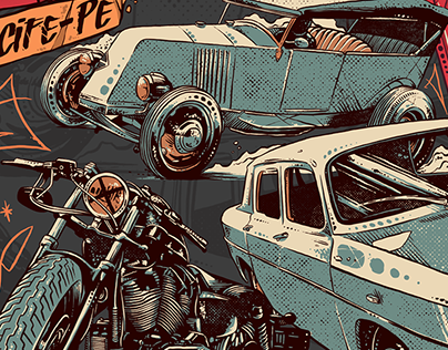 Illustration Poster Rock'n Reno - Renault