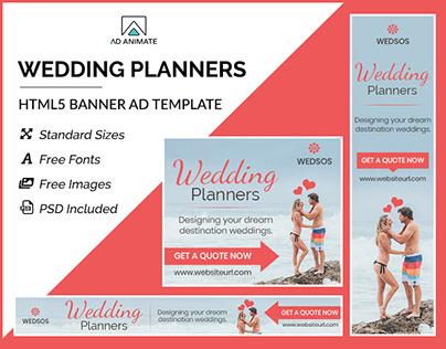 Wedding Planner Banner - HTML5 Ad Templates