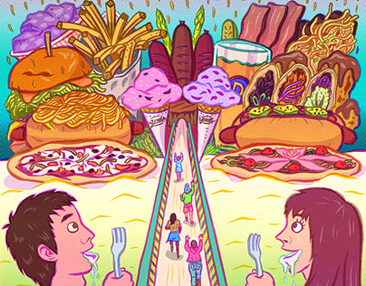 Food Themed Illustrations
