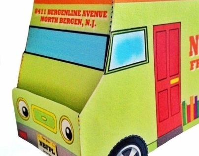 Bookmobile Paper Toy Craft
