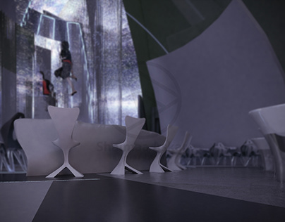Futuristic design for a restaurant