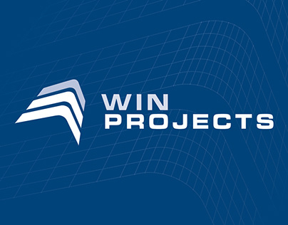 Win Projects logo design