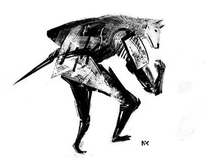 """Digital """"monoprints"""" / collages - 1"""