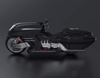 STEAM JET - BAGGER MOTORCYCLE CONCEPT