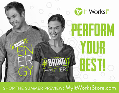 Web Banners for It Works! Apparel