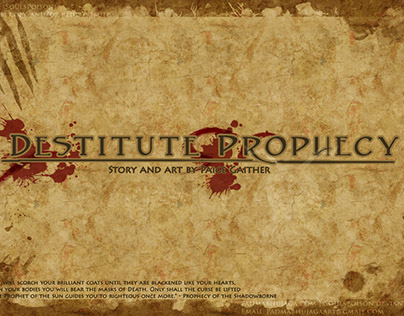 Destitute Prophecy - Concept Boards