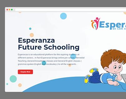 Espernza Website Designing Project