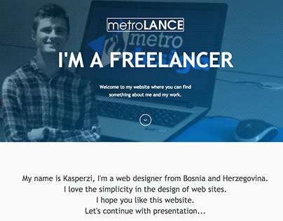metroLANCE - Personal One Page Portfolio