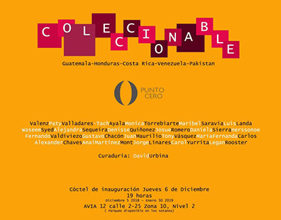 COLECCIONABLE II Exposición colectiva 2018