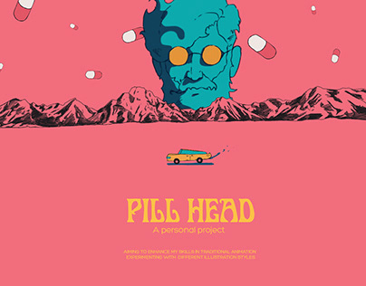 Pill Head - traditional animated project