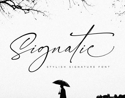 FREE | Signatie Stylish Signature Font