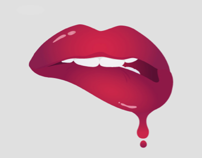 Vector Lips and Rock Poster