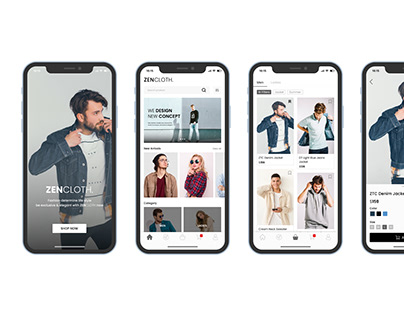 ZENCLOTH Mobile App Design