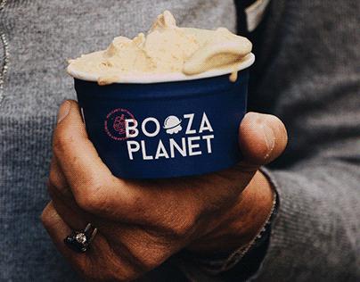 Booza Planet / Ice Cream Brand Design